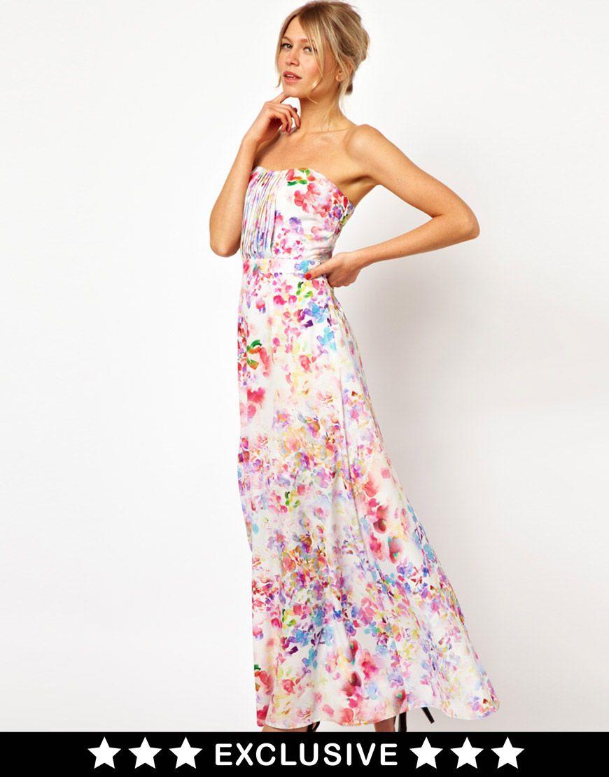 Pleated maxi dress oasis