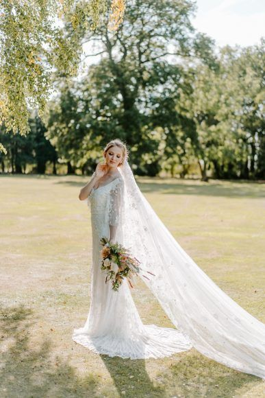 Photo of Wedding Dresses Lace Flowy Dress Gown Bride Bridal Floral Train Lace Veil Contemporary Wedding Ideas Chloe Ely Photography #WeddingDress #WeddingGown #Bride #Bridal #Train #Veil #Wedding