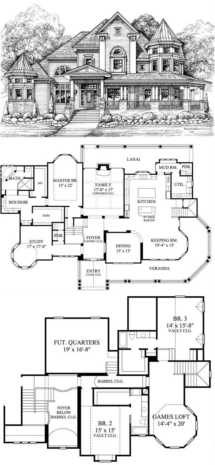 Victorian House Plans Home Design Gml D 756 19255 Victorian House Plans House Blueprints Vintage House Plans