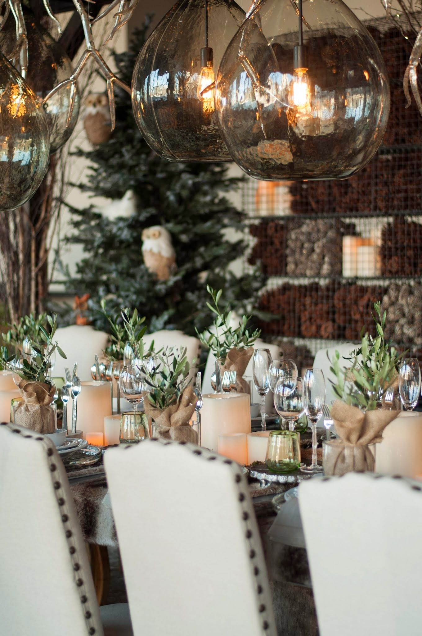 5 Christmas Home Decorating Trends Pottery barn table