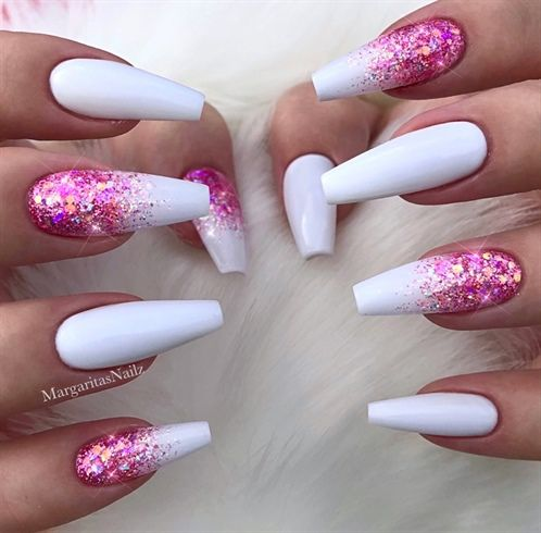 Nail Art From The Nails Magazine Nail Art Gallery Gel Glitter Fade Ombre Nail Art Nail Art Designs Trendy Trendy Nail Art Nailartaddic With Images Ombre Nails Glitter