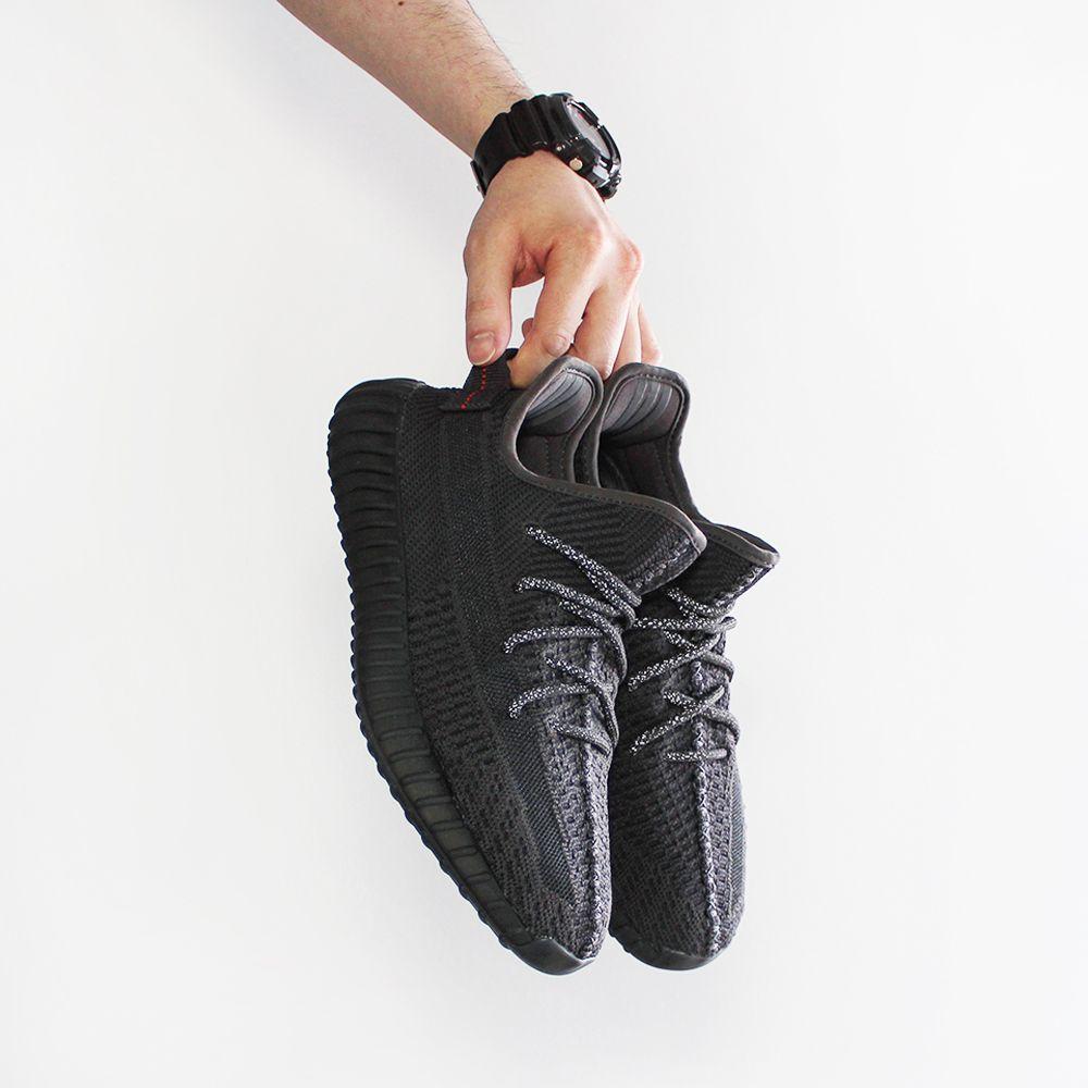 yeezy black non reflective on feet