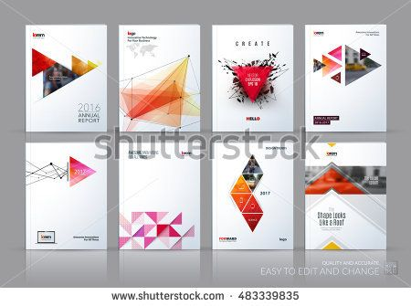 Brochure template layout, cover design annual report, magazine - business annual report template