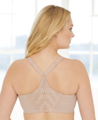 e89dad39bc Glamorise Women s Plus Size Full Figure Front Close Lace T-Back Wonderwire  Bra  1246
