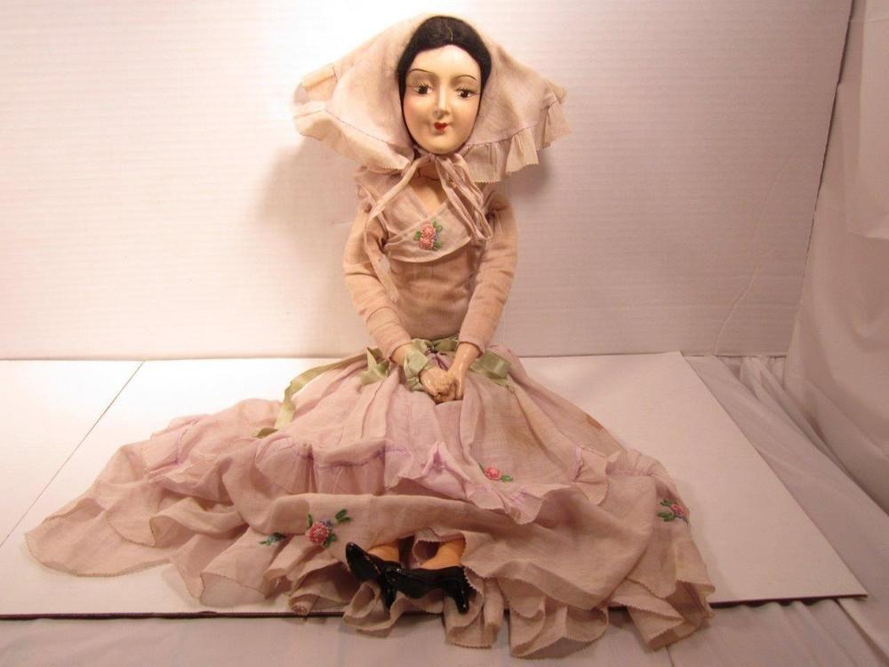 Antique Boudoir Doll Vintage Compostion