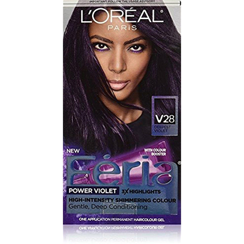 L Oreal Feria Power Violet Hair Color V28 Deepest Violet Pack Of
