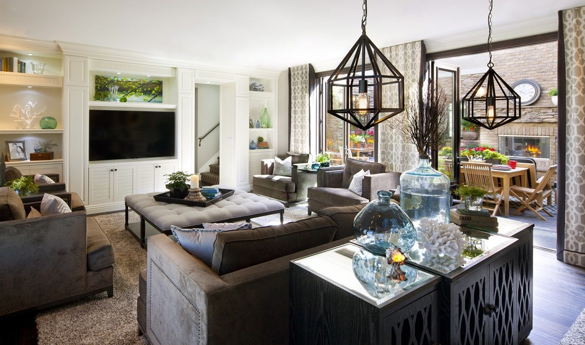 Hamptons Inspired Luxury Home Family Room Robeson Design Part 38