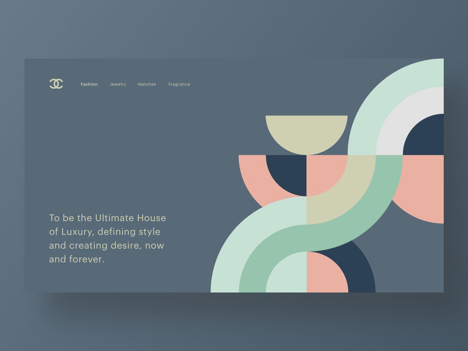 Chanel Web Layout Design Branding Design Graphic Design Website
