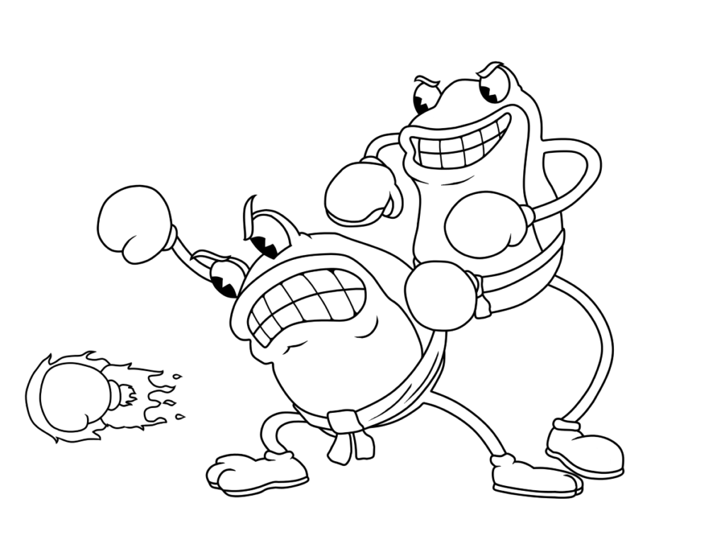 Cuphead coloring pages Print, Spongebob crafts