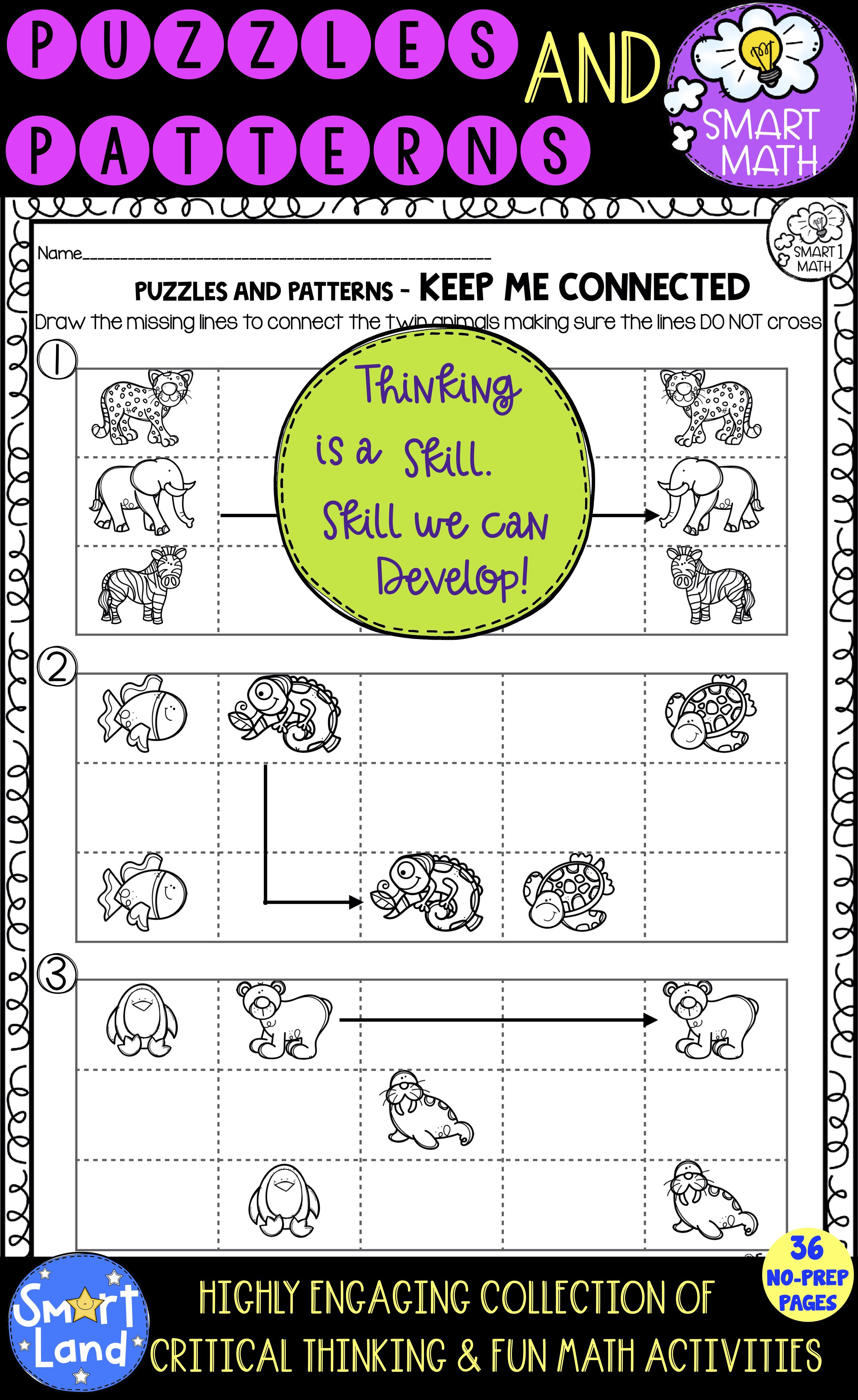 Patterns And Puzzles Worksheets Critical Thinking Early