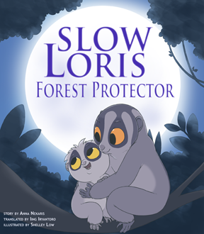 Slow Loris - Forest Protector book. Little Fireface Project