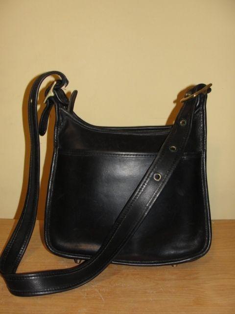a4e036602c Coach Vintage Legacy Black Leather Shoulder Cross Body Handbag Purse  9966   Coach  ShoulderBag