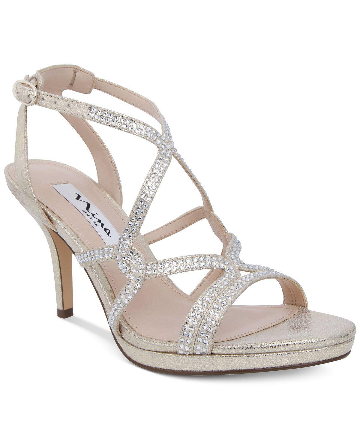 b66de1b90 Nina Varsha Strappy Evening Sandals - Heels - Shoes - Macy's [www.macys.com]