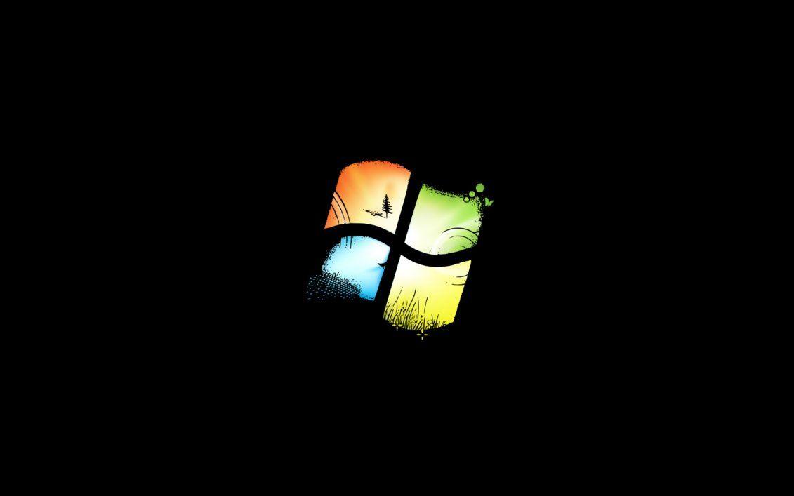 Custom Black Windows 7 Logo Background By Iamjcat Deviantart Com On Deviantart Logo Background 7 Logo Background
