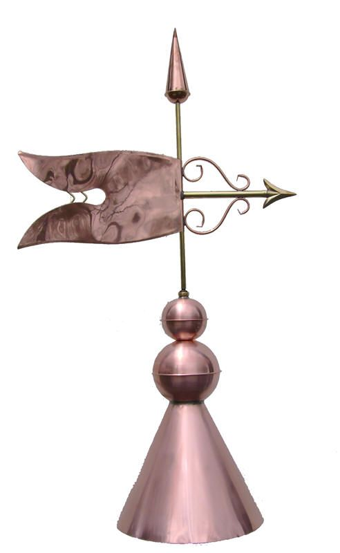 Banner Copper Finial Copper Metal Roof Metal Roof Metal Roofing Prices
