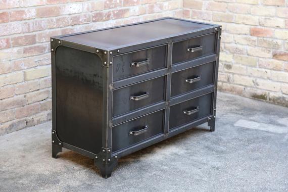 Best Grandview Modern Industrial Steel Bedroom Dresser In 2020 400 x 300