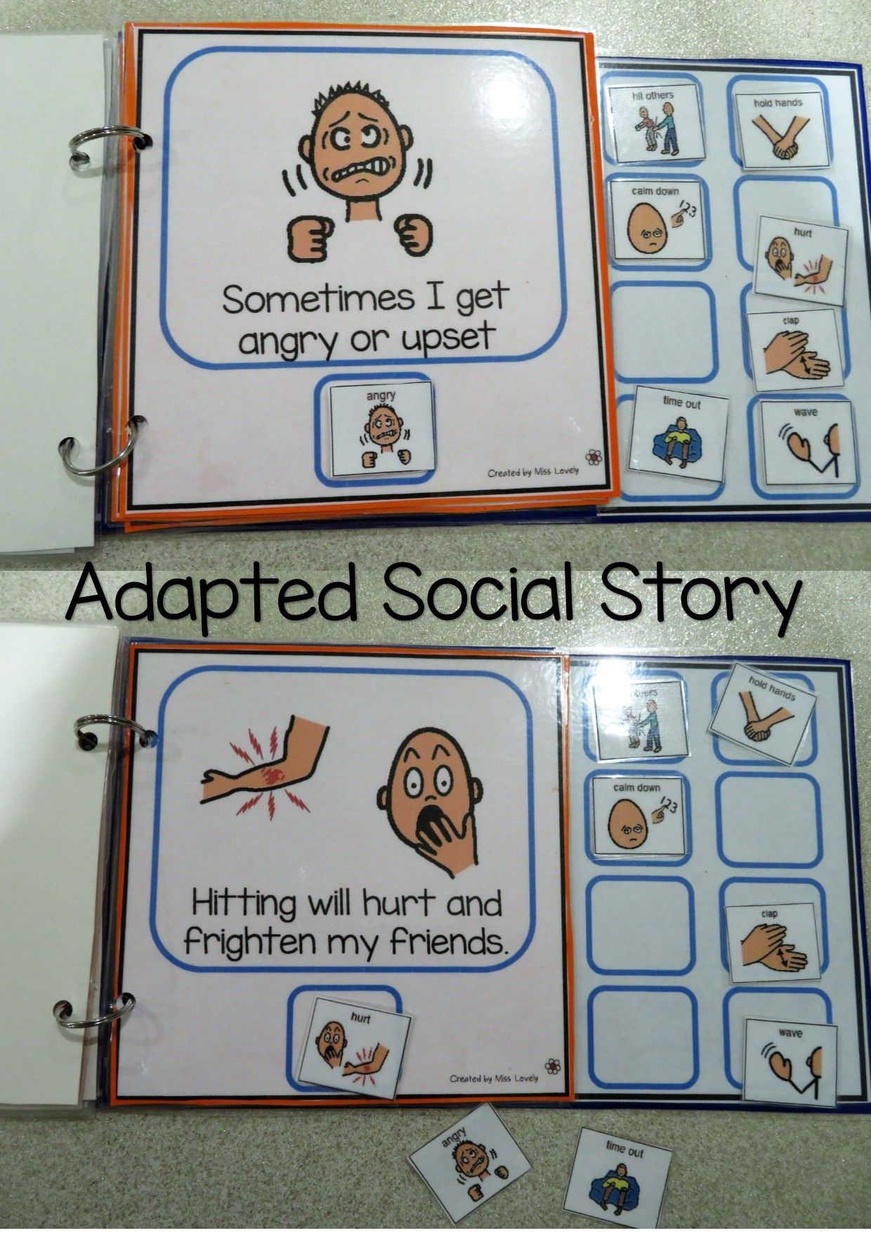 Social Story Adapted Book