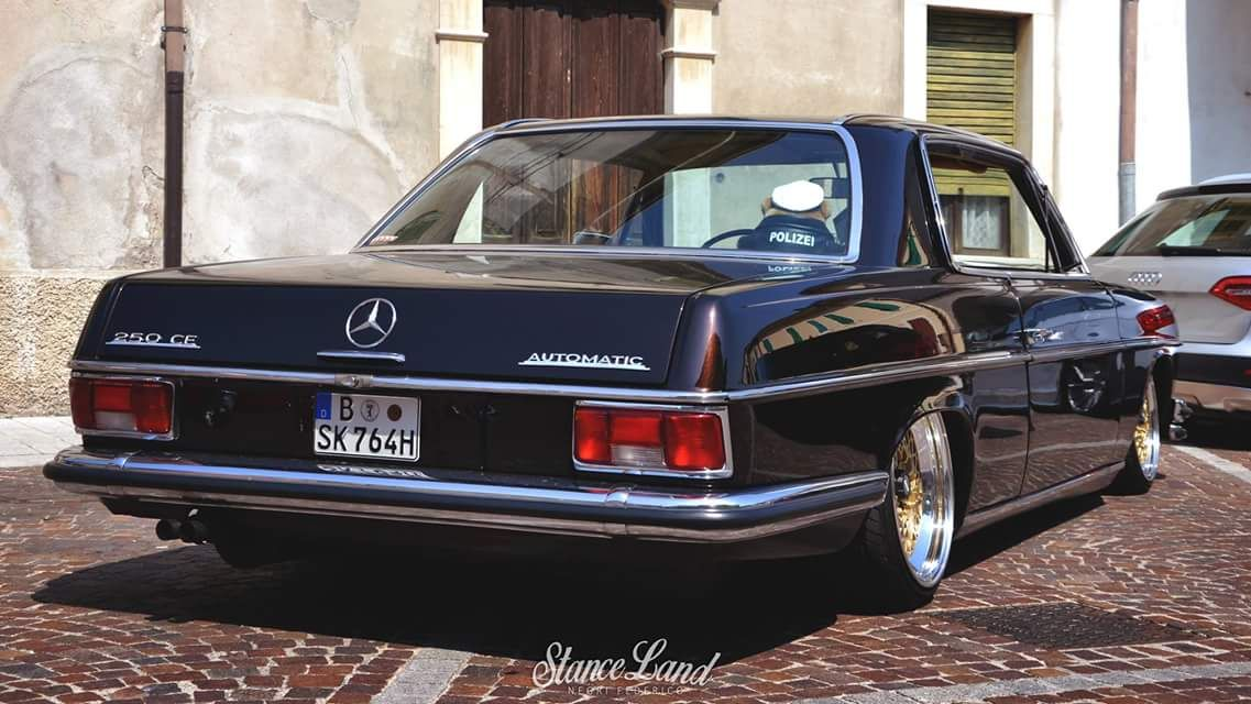 just beautiful lowered mercedes benz w114 coupe. Black Bedroom Furniture Sets. Home Design Ideas