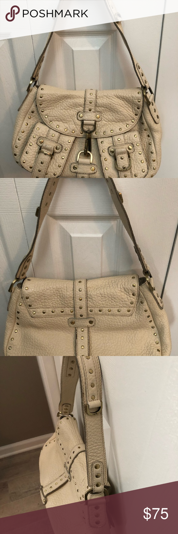 bf9e68faa7 Rafe New York Vintage Shoulder Bag Rafe New York Vintage Shoulder Bag Creme  with gold studs Like new Dust bag included Smoke and pet free home  Purchased at ...