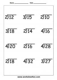 Math Worksheets For Grade 4 Division | worksheet example