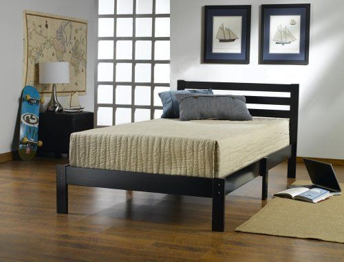 home life short headboard black wood platform bed with slats full complete bed 5 year. beautiful ideas. Home Design Ideas