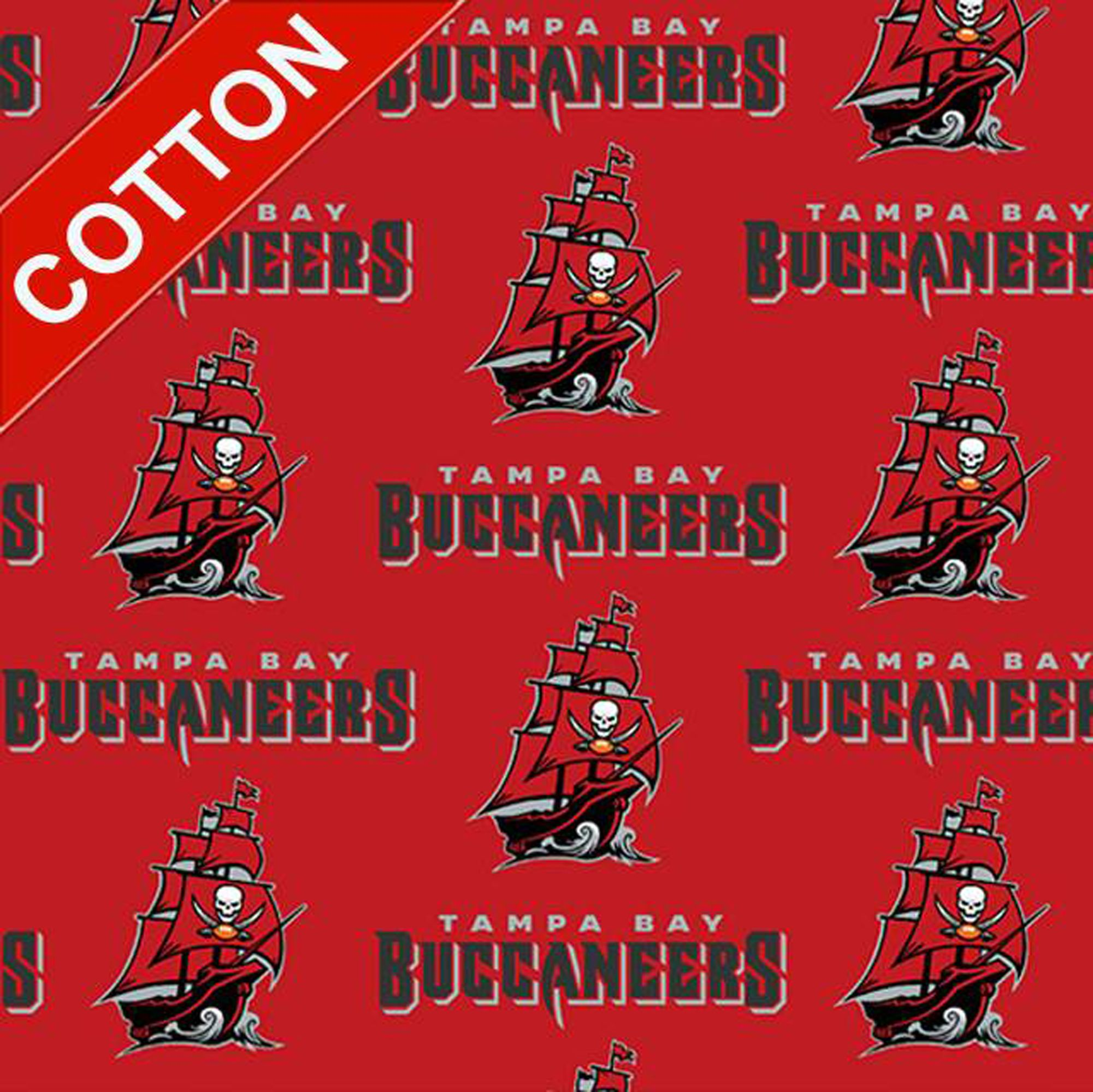 Tampa Bay Buccaneers Cotton Fabric Nfl Football Team Cotton Fabric In 2020 Tampa Bay Buccaneers Tampa Bay Buccaneers Football Buccaneers Football