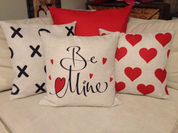 Be Mine Pillow Cover Etsy In 2021 Valentines Pillows Diy Valentine S Pillows Holiday Pillows Covers