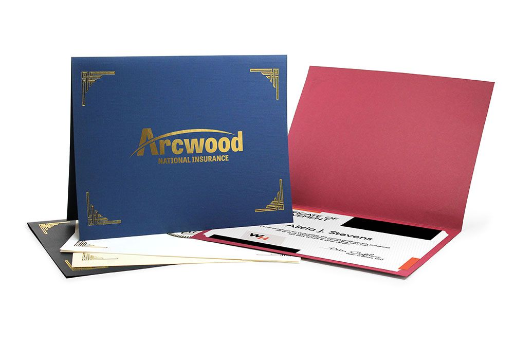 Graduation Diploma Folder Paper Award Folder Custom Diploma Folio