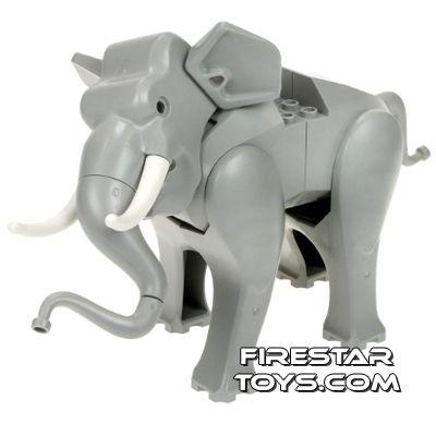 LEGO Animals Mini Figure - Very Rare Elephant - Light Gray | Lego ...