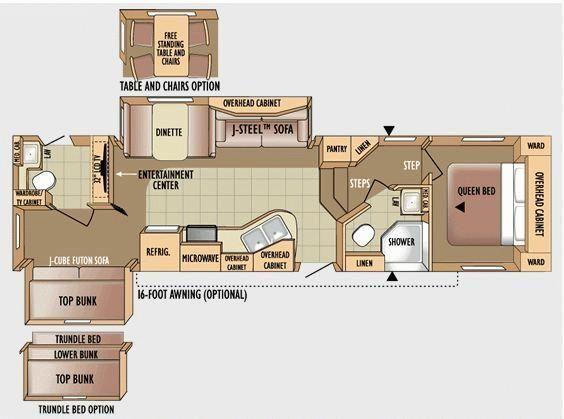 Bunk House Rv Floor Plans Bathroom Floor Plans