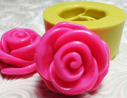 Big Rose Mold Flexible Silicone Push Mold for by MementoMolds, $5.50