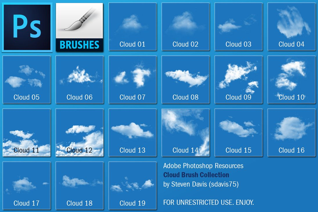Cloud Brushes by sdavis75 PTS brushes
