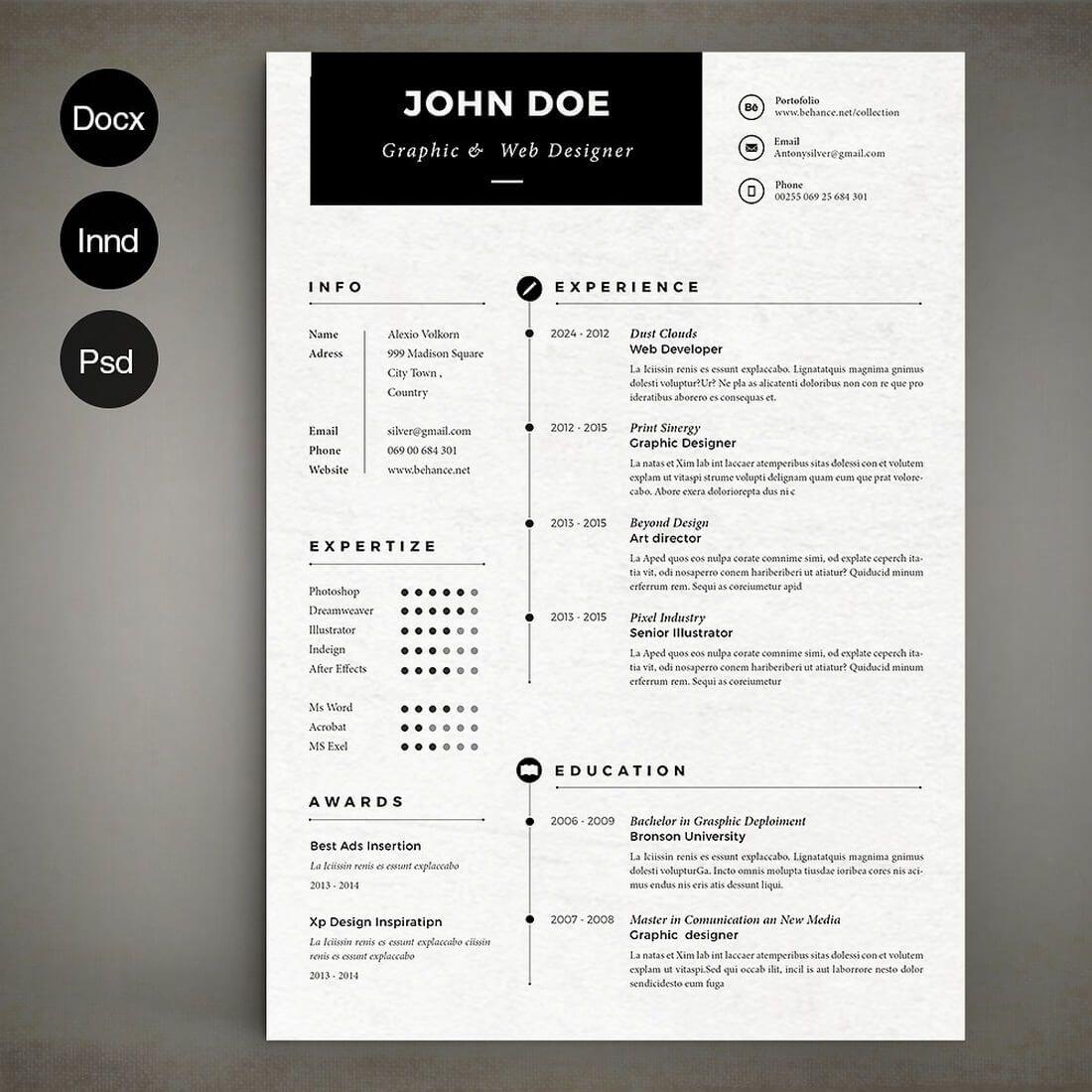 50 best cv resume templates 2020 simple resume