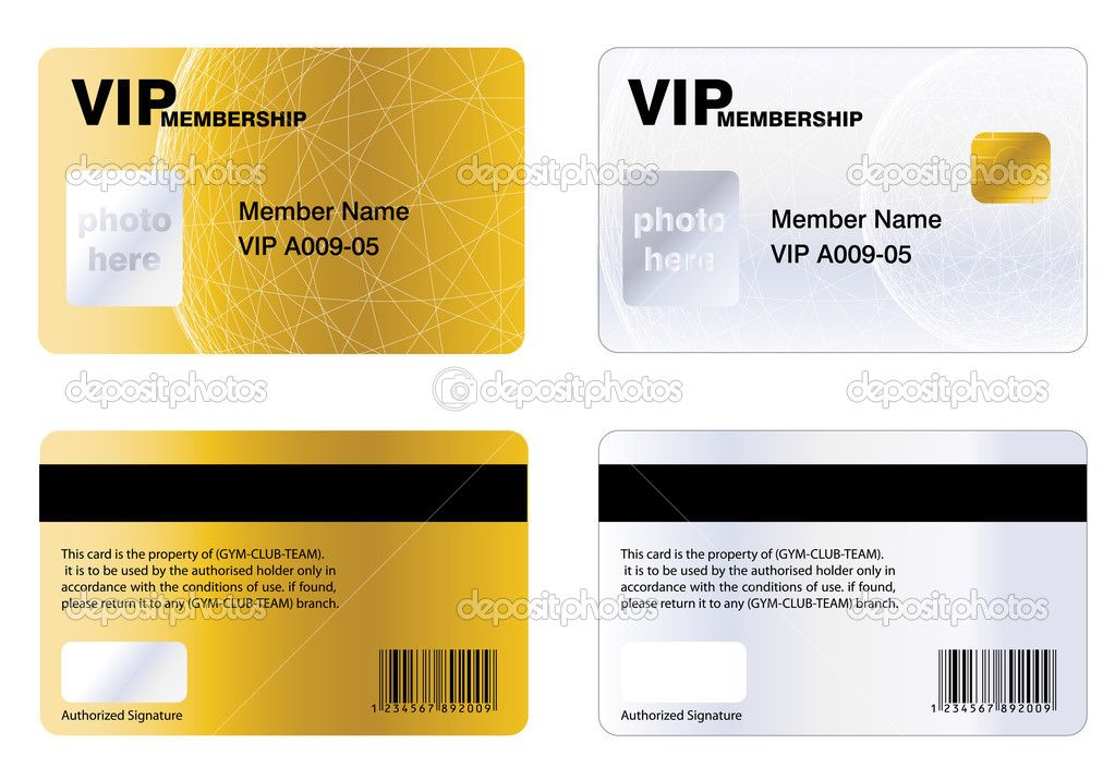 Membership Cards Templates Vipабонемент — Стоковая Иллюстрация #3887447  Студия Красоты .