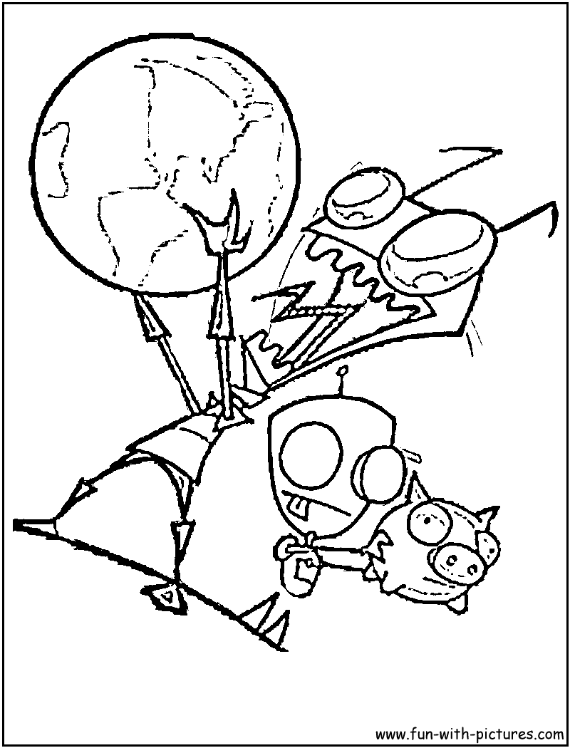 invader zim coloring pages Invader Zim Gir Coloring Page | Nickelodeon Coloring Pages  invader zim coloring pages
