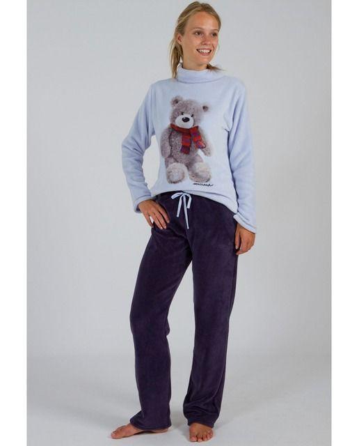 Pijama De Mujer Massana Largo Polar Ropa Ropa Para Niñas Sudadera Estampada