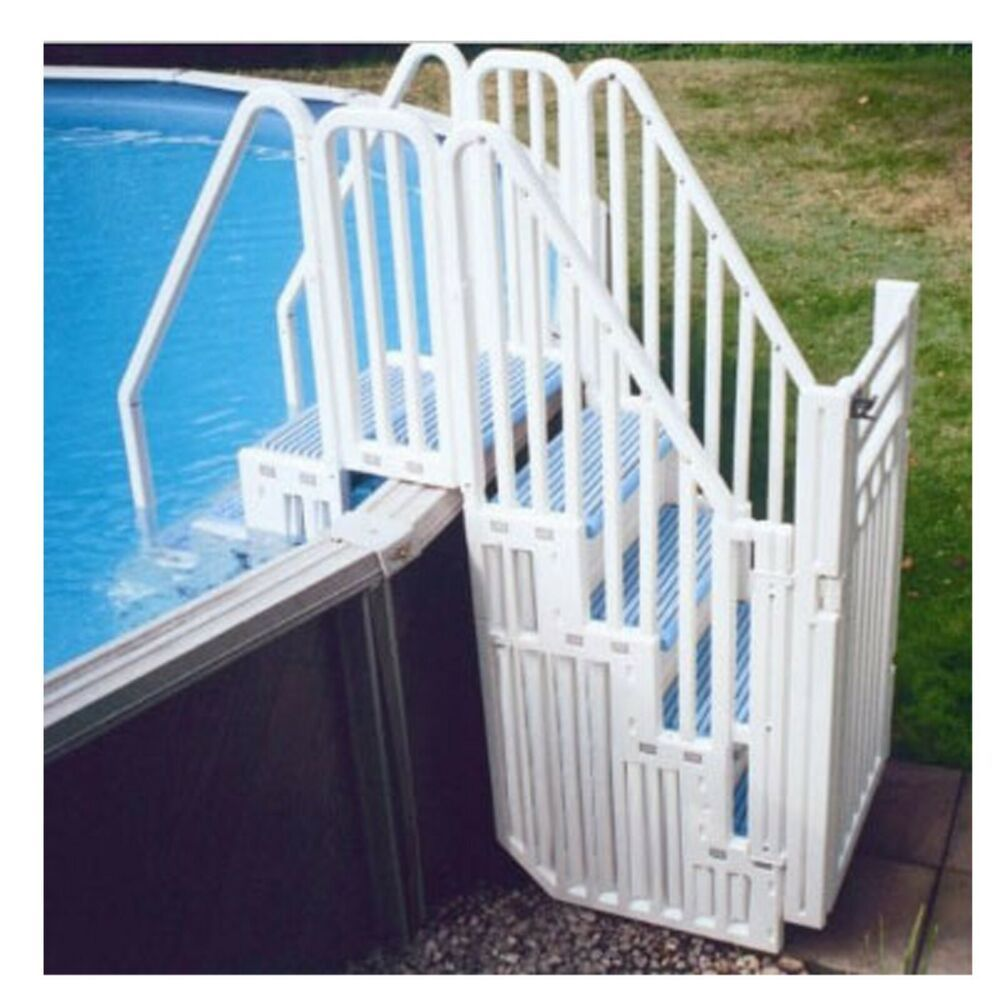 Pool Steps Made From Pallets With Noodle Storage Pallet Pool Wood Pool Deck Pool Steps