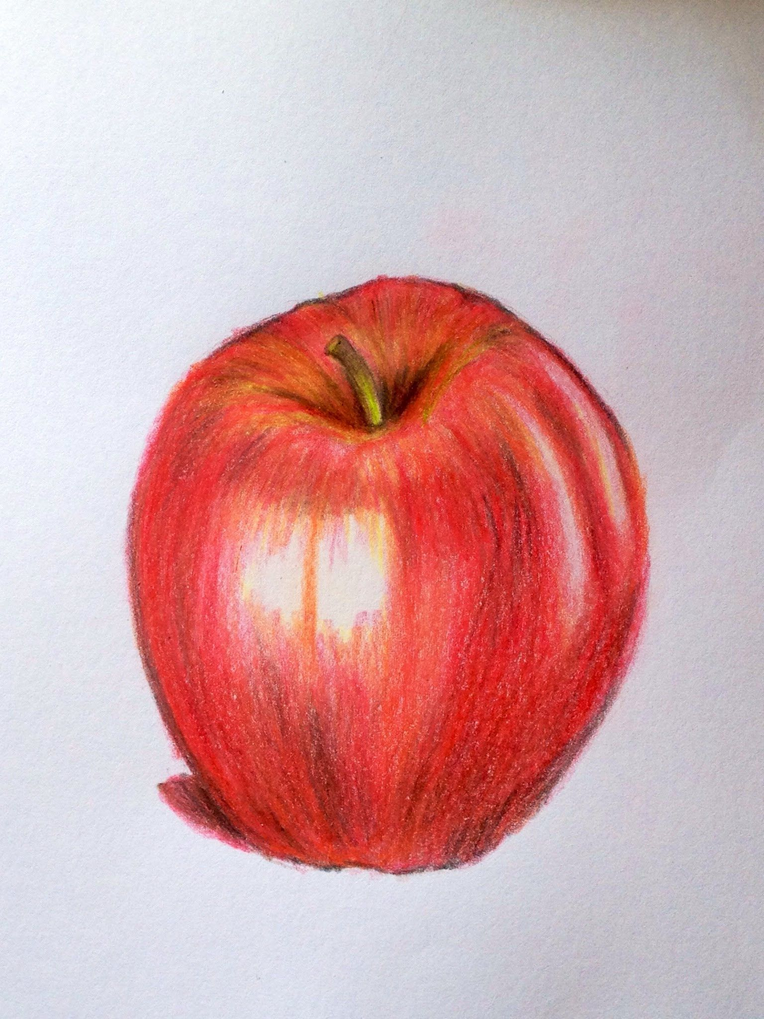Lets draw a realistic apple