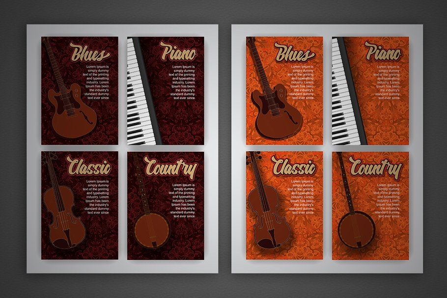 Photo of Vector music style cards , #AFFILIATE, #music#Art#book#poster #affiliate