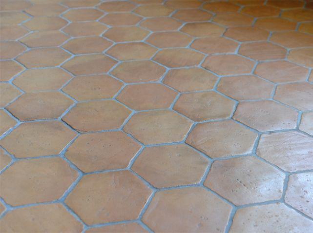 Carrelage terre cuite ancien Kitchen Pinterest Painted tiles - peindre le carrelage sol