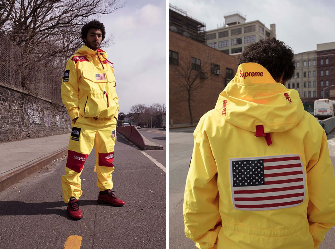 Today finds Supreme taking the wraps off its Spring Summer 2017 collection  with The North Face. The expansive collection is made up of the Trans  Antarctica ... 541550936