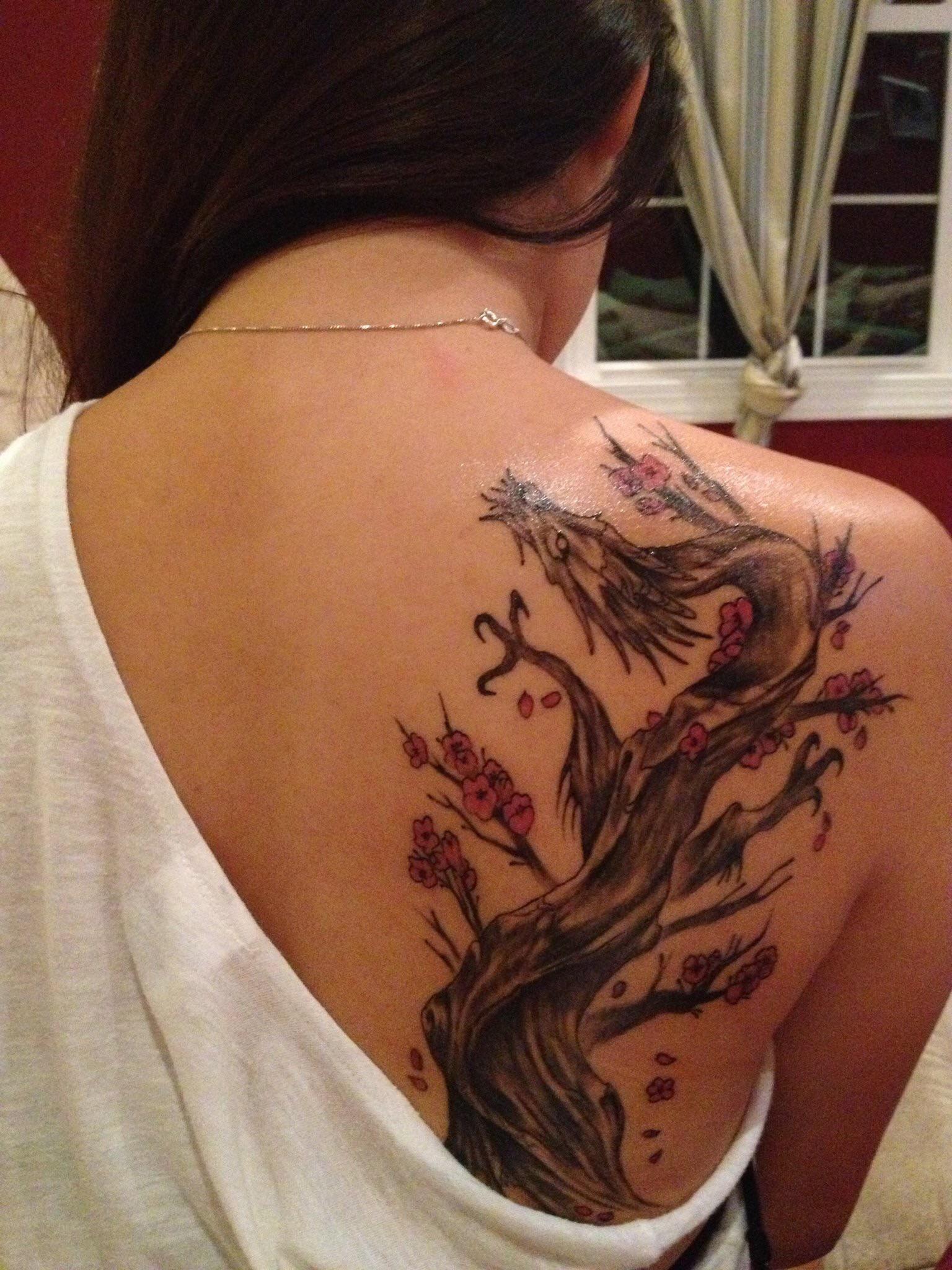 Little Bit Of Dragon Cherry Blossom Tree Action For Ya Sunday Blossom Trees Cherry Blossom Tree Cherry Blossom Tattoo