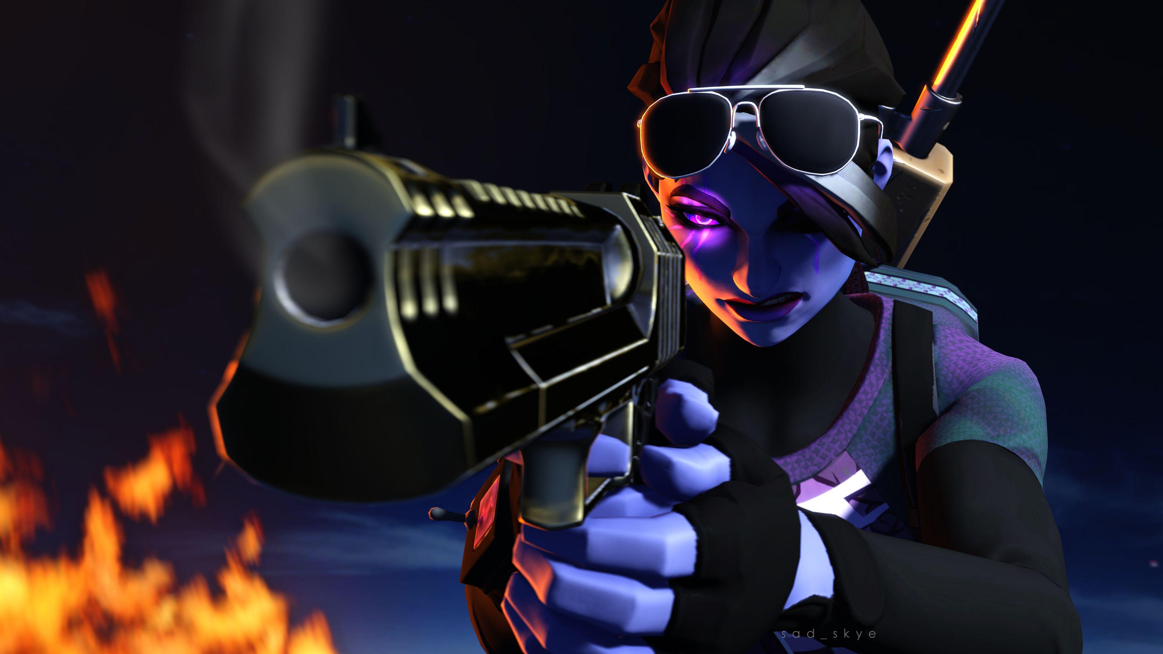 Dark Bomber Pistol Fortnite Battle Royale 4k 27350 Battle Royale Game Gamer Pics Gaming Wallpapers