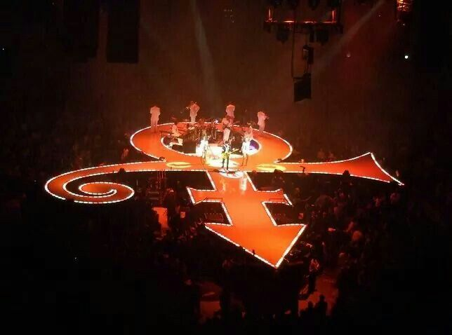 The symbol stage....Prince