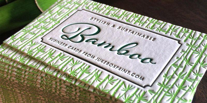 jukebox bamboo business cards