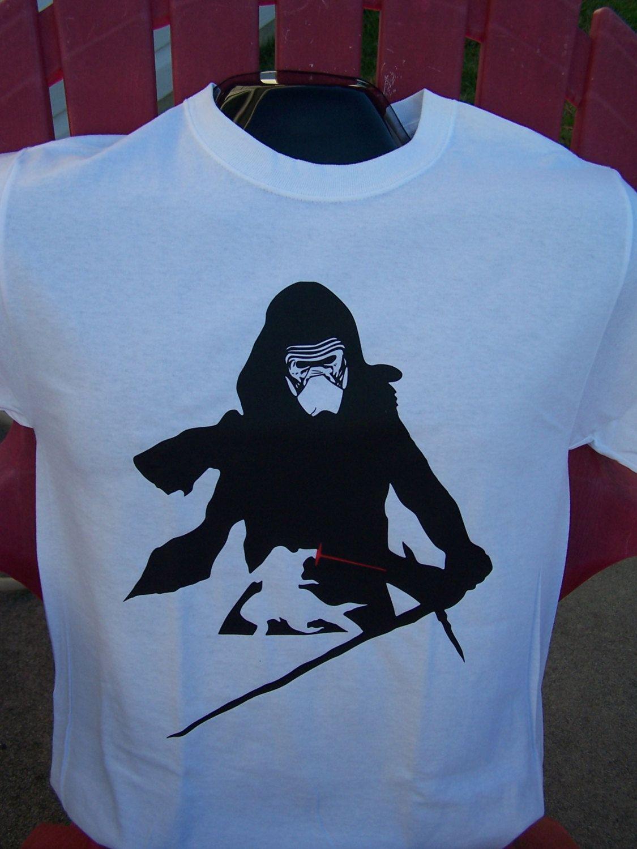 Kylo-Ren Star Wars Silhouette T-Shirt   Star wars silhouette, Ren ...