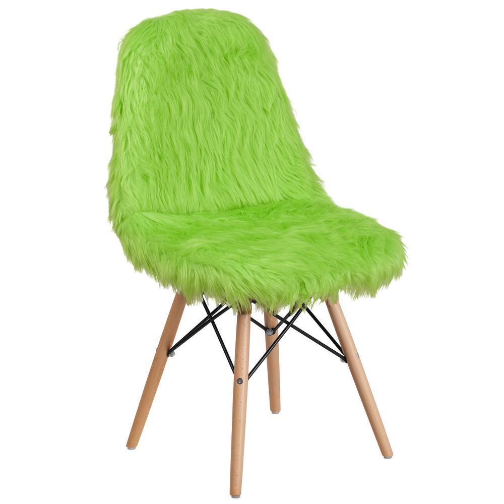 Best Shaggy Dog Fluorescent Green Accent Chair Green Accent 400 x 300