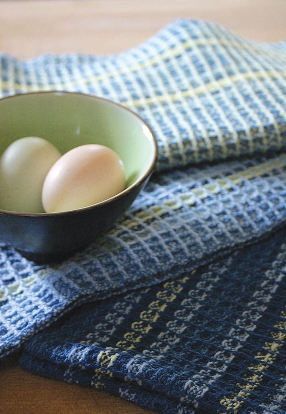 Waffle Weave Dish Towel Pattern   8/2 Cotton