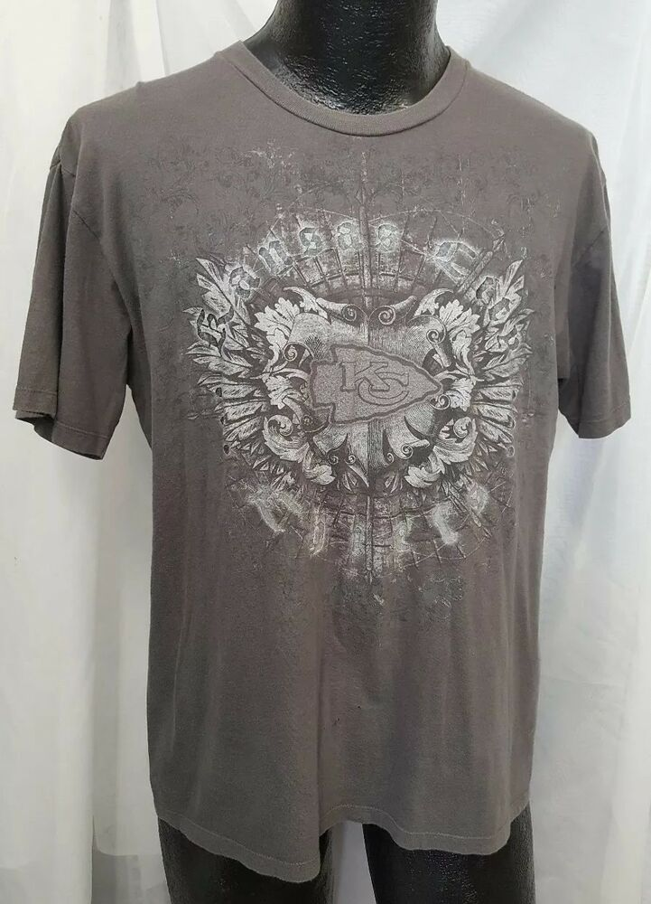 47128bbbc9f Kansas City KC Chiefs NFL Pro Football Shirt Adult Large Gray Design Cotton  Top  CSA  KansasCityChiefs