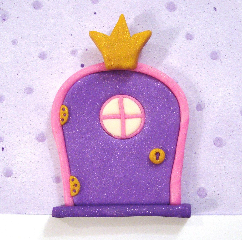 Fairy door with princess crown and glow in the dark window for Princess fairy door
